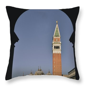 Venice In A Frame Throw Pillow