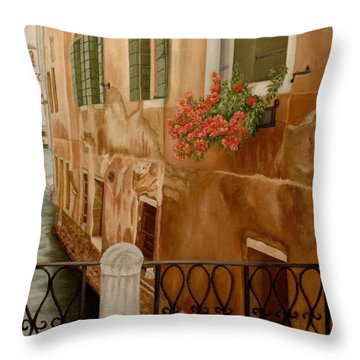 Venice In June Throw Pillow