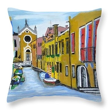 Venice In September Throw Pillow