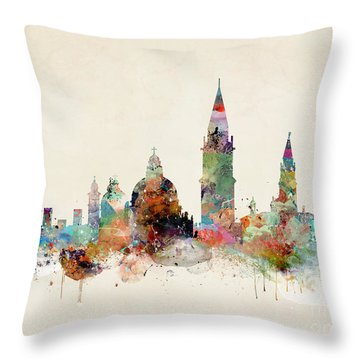 Throw Pillow featuring the painting Venice Italy by Bri B