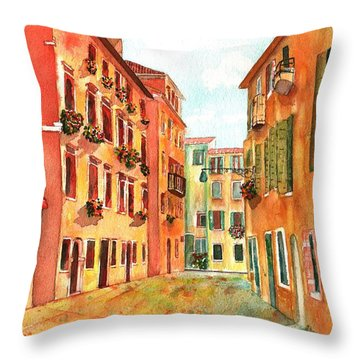 Venice Italy Street Throw Pillow