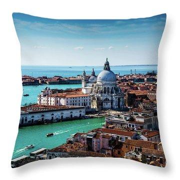 Venice Throw Pillow by M G Whittingham