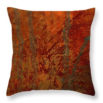 Throw Pillow featuring the mixed media Venice by Michael Rock