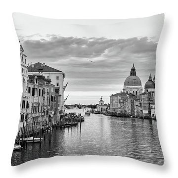 Throw Pillow featuring the photograph Venice Morning by Richard Goodrich