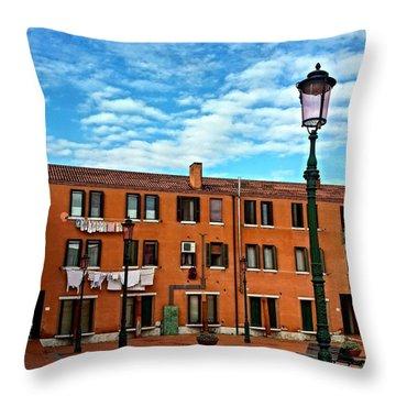 Venice Murano Throw Pillow