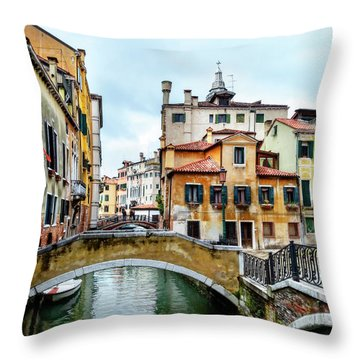 Venice Neighborhood Throw Pillow