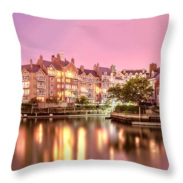 Venice Of Jersey City Throw Pillow