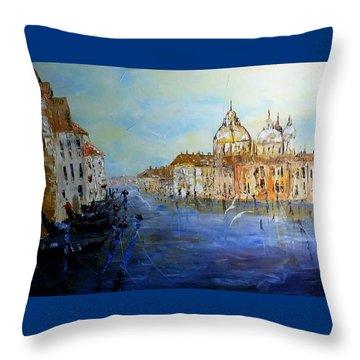 Venice Oil Sketch  Throw Pillow