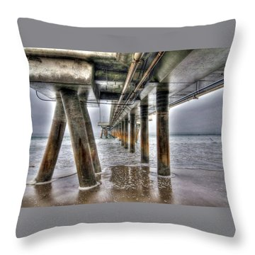 Venice Pier Industrial Throw Pillow
