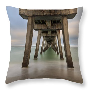 Throw Pillow featuring the photograph Venice Pier by Paul Schultz