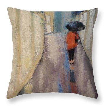 Venice Rain Throw Pillow