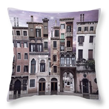 Venice Reconstruction 1 Throw Pillow