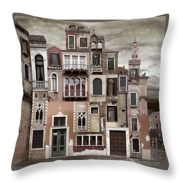 Venice Reconstruction 2 Throw Pillow