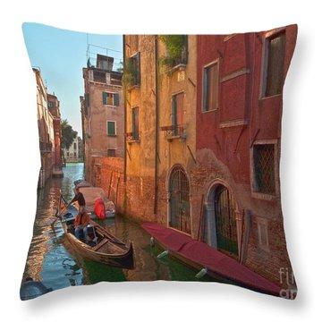 Venice Sentimental Journey Throw Pillow by Heiko Koehrer-Wagner