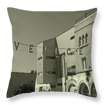 Venice Sign Throw Pillow
