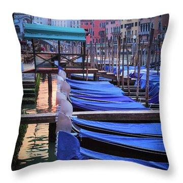 Venice Sunrise Throw Pillow