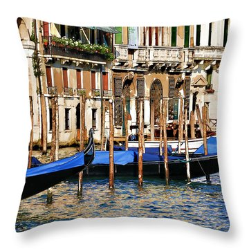 Throw Pillow featuring the photograph Venice Untitled by Brian Davis