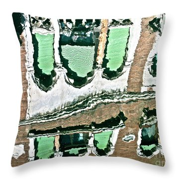Venice Upside Down 2 Throw Pillow by Heiko Koehrer-Wagner