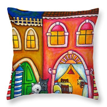 Venice Valentine Throw Pillow