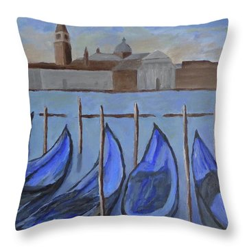 Throw Pillow featuring the painting Venice by Victoria Lakes
