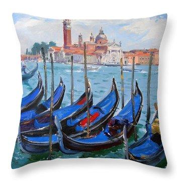 Venice View Of San Giorgio Maggiore Throw Pillow