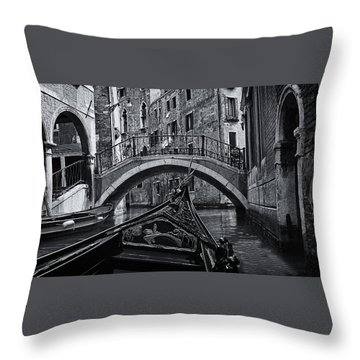 Throw Pillow featuring the photograph Venice Yesteryear by Andrew Soundarajan