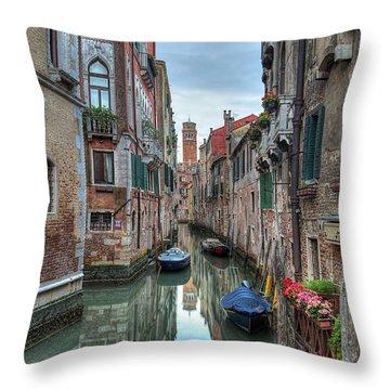 Venetian Morning Throw Pillow