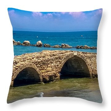 Venitian Bridge Argassi Throw Pillow