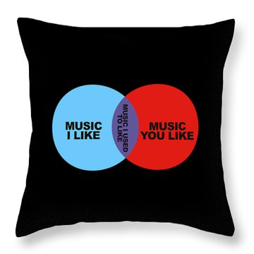 Venn Diagram Throw Pillows Fine Art America