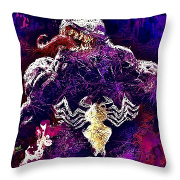 Venom Throw Pillow