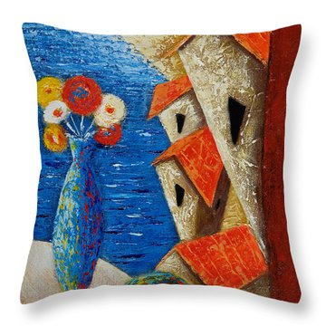 Ventana Al Mar Throw Pillow