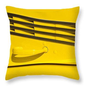 Vented Chrome To Yellow Throw Pillow