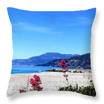 Throw Pillow featuring the photograph Ventimiglia Italia by Michelle Dallocchio