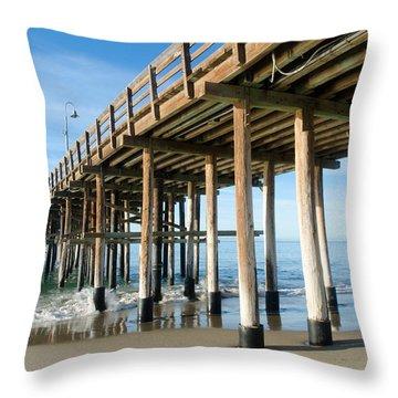 Ventura Beach Pier-1 Throw Pillow