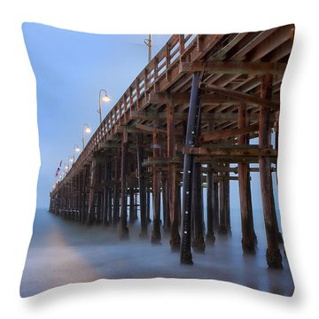 Ventura Ca Pier At Dawn Throw Pillow