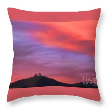 Ventura Ca Two Trees At Sunset Throw Pillow