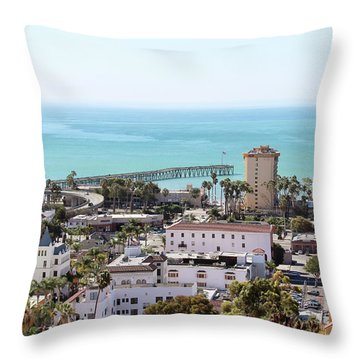 Ventura Coastal View Throw Pillow