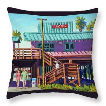 Ventura Pier - Tacos Throw Pillow