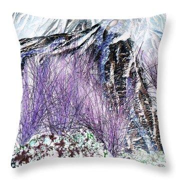 Venus Blue Garden Throw Pillow