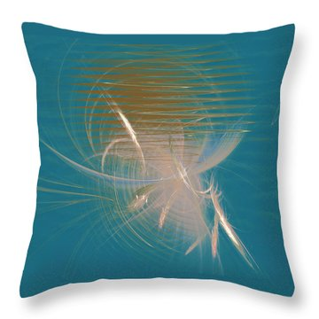 Venus Born Out Of The Sea Throw Pillow by Menega Sabidussi