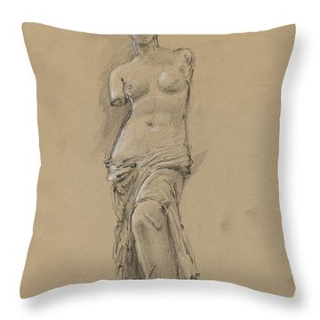 Venus De Milo Throw Pillow