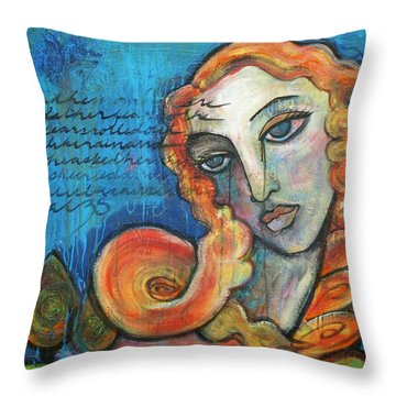 Venus Lets Go Throw Pillow