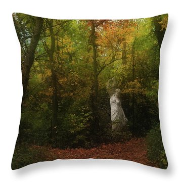 Venus Of The Woodland Throw Pillow