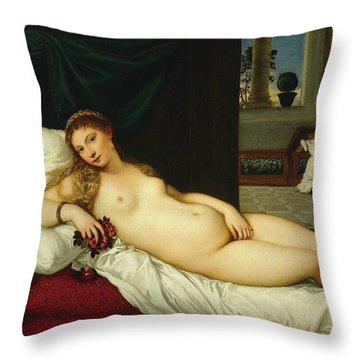 Venus Of Urbino  Throw Pillow