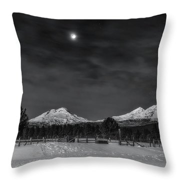 Throw Pillow featuring the photograph Venus Over Three Sisters by Cat Connor