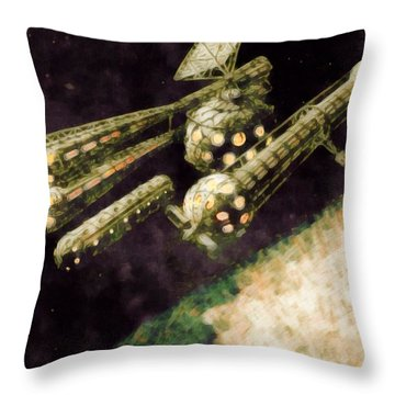 Venus Research Station Throw Pillow