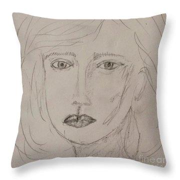 Vera In Pencil Throw Pillow