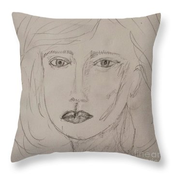 Vera In Pencil Throw Pillow