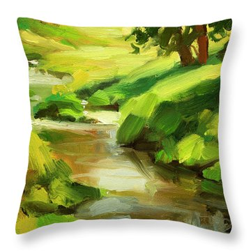 Verdant Banks Throw Pillow