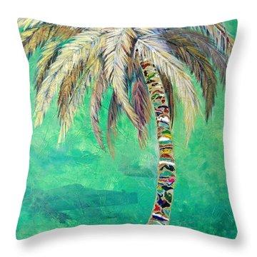 Verdant Palm Throw Pillow by Kristen Abrahamson
